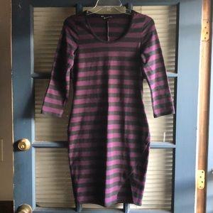 🖤💜Express form firing black and purple dress